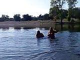 flashing bbws at river