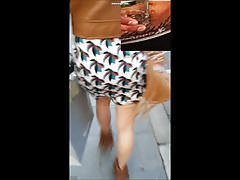 Pubblico Cum On Leg And Skirt