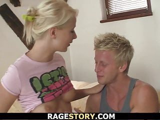 Czech Teen Blonde video: Shaved pussy blonde takes it deep and rough