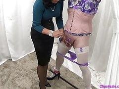 Mistress Femdom Sissy Panty Melken Handjob