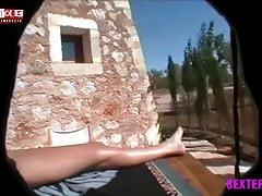 Mallorca Schlampe in Blond wird gefesselt und benutzt