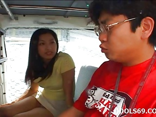 Asian Japanese Outdoor video: Ran Asakawa tries dick in the pussy - More at hotajp.com