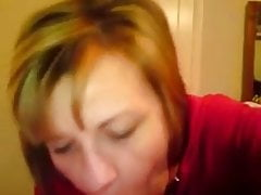 Dirty taliking slut MILF gets the cum in her mouth