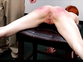 Redhead European 18 Year Old video: Julia Strapped for Laziness in Gym Classroom Full nude