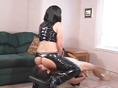 Sub licks Mistresses ass