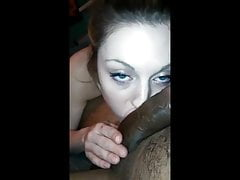 White Girl Loves to Suck Big Black Cock