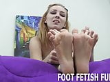 I will make you hard with just my bare feet