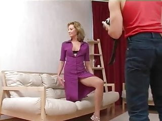 36 Yr. Old MILF In Pantyhose Takes It In The Ass