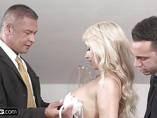 .Glamkore - Christina Shine double penetration threesome.