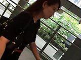 OL in black dress face