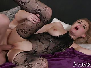 Lingerie High Heels Mom video: MOM Wet big tits MILF in bodystocking squirting and rimming