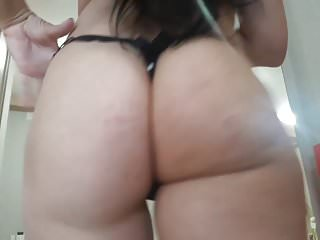Amateur Bbw porno: Esposa de fio dental preto