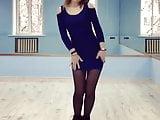 18 Y.o Teen Dancing In Nylon And Short Dress (cute Teen 18)