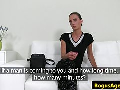 Real Casting Amateur Doggystyled bei Vorsprechen