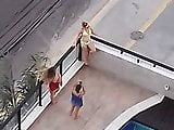3 women at the pool (non-nude) - part II