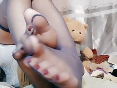 čínská noha dívka