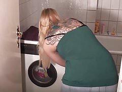 Enfoncer sur la machine à laver