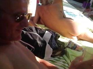 Gangbang Amateur British video: British Holiday Spitroast