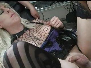 Mature Shemale video: Mistress strapon Fucks Shemale