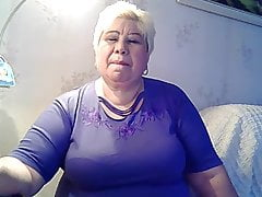 Fat Grandmother Excitng Her Self And Gargling Her Nips Part 1