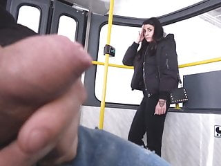 Public Nudity Czech Pov video: Woman watches me jerking off on a tram!