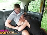 Female Fake Taxi cum in mouth wild fucking and creampie