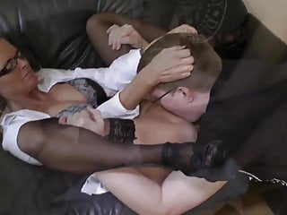 Young Fat Boy Came In For an Interview To Busty Mature MILF