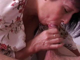 Blowjob Milf Mature video: Stupid Bitch Sucks My Cock