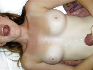Amateur Big Boobs Redheads video: Small Cock Cums All Over Perfect Tits