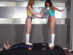 Japanese Femdom Double Trampling