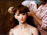 Mounting Hair wig on a sexdoll