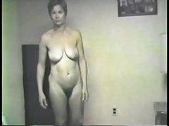Vintager Frau Donna Voller Frontalakt