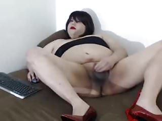 Masturbation Shemale Solo Shemale Sex Toy Shemale video: Bbw  Crossdresser