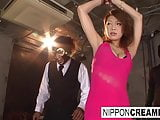 Tied Japanese beauty gets fucked and creampied