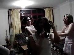 Árabe Egipto chica sexy baile en casa fiesta