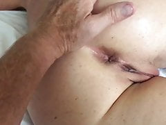 Wife fingered in the ass