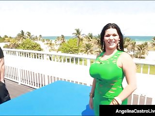 Facials Outdoor Big Tits video: Curvy Cuban Angelina Castro Is Pussy Pounded On Hotel Roof!