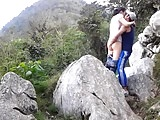 grabandose en el monte