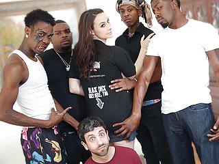 .Chanel Preston Interracial Anal Gangbang - Cuckold Sessions.