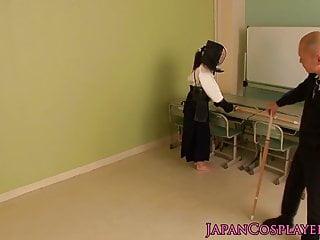 角色扮演Mibu Sayaka劍道色情變得面部化