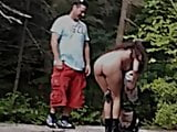 Candid 07 - Hot exhibitionist girl in the woods