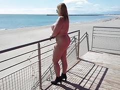 Enjoying The Nudist-beach
