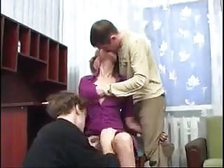 Hairy Russian Teen video: WALL Mom Cancels Her Date To Fuck With Her Sons !
