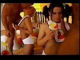 Two Adult Baby Girls sucking cock and lollys wearing bibs