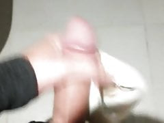 Jerk off with help of her little 85A french size bra