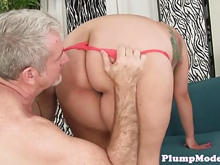 Bbw Hd Videos xxx: Gorgeous plumper screwed by an old man