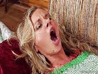 Blonde Blowjob Cumshot video: Seventies TV Show Parody Rocks
