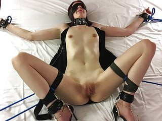 Bdsm Pov Foot Fetish video: First time blindfold and in bondage