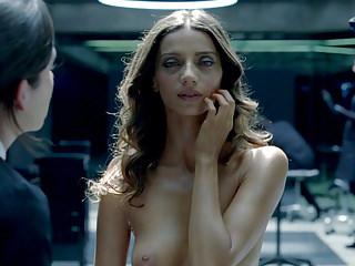 Nipples Tits Celebrities video: Angela Sarafyan Nude Lesbo Scene In Westworld ScandalPlanet