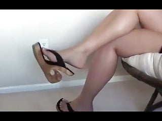 Softcore Foot Fetish video: Dangling Sexy Wedges